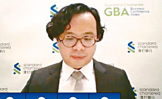 渣打大中華區高級經濟師劉健恒。