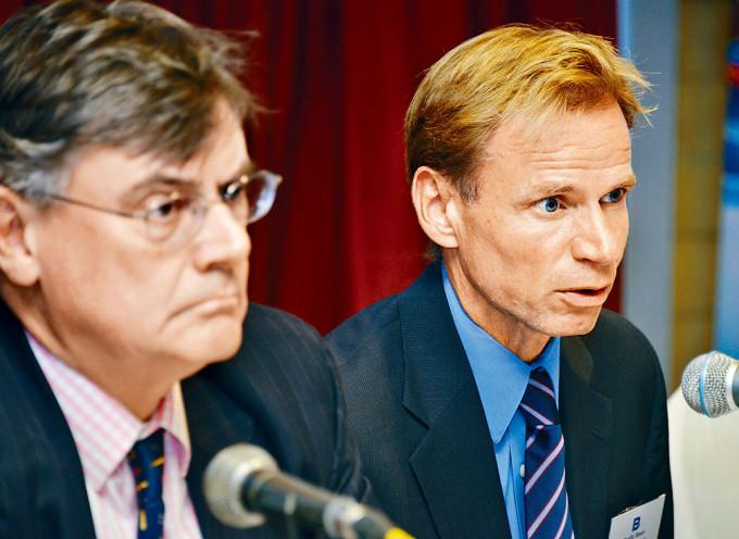 太平洋航運行政總裁Mats Berglund(右)。