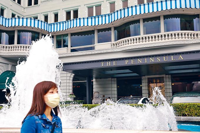 旅發局「賞你住」活動接受預訂,香港半島酒店等八十家酒店滿額。