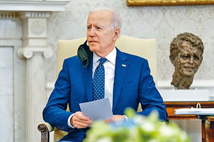 拜登周四在白宮發表講話。