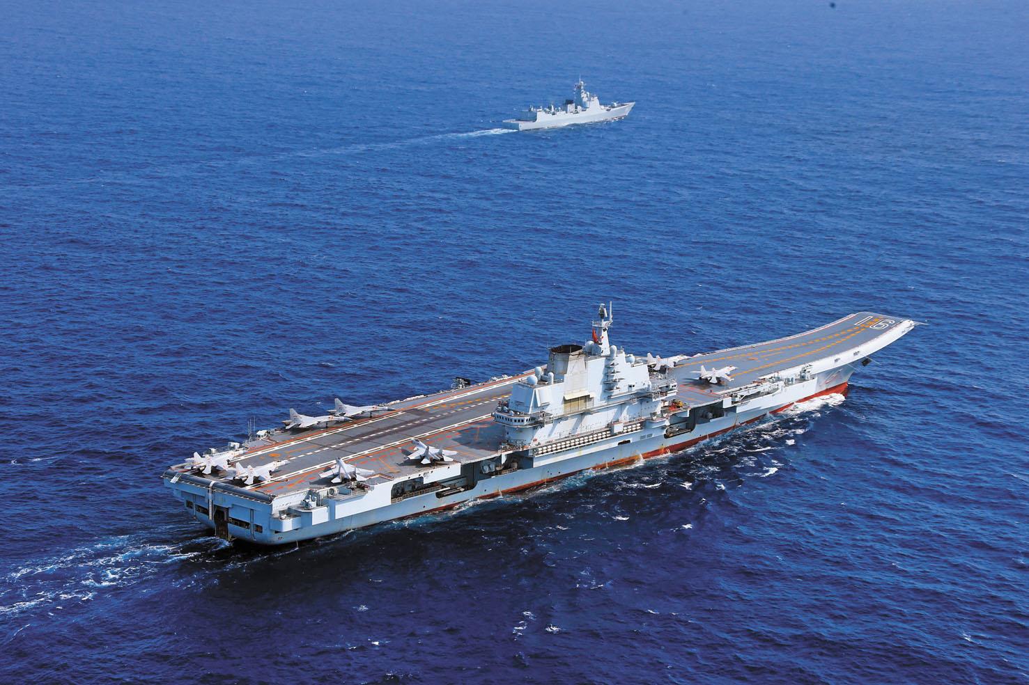 中國遼寧艦航母編隊(上圖)早前在台灣周邊海域進行訓練。中新社資料圖片/網上圖片