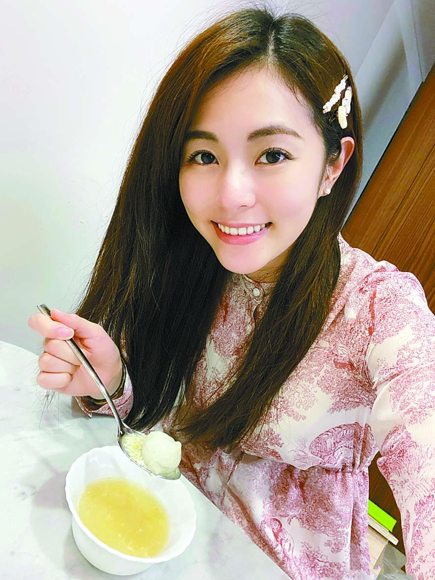 ■任容萱近日進行了智齒手 術。 網上圖片