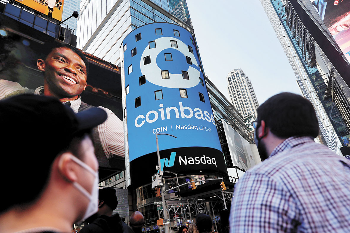 Coinbase上市被視為將加密貨幣進一步推向主流投資。路透社