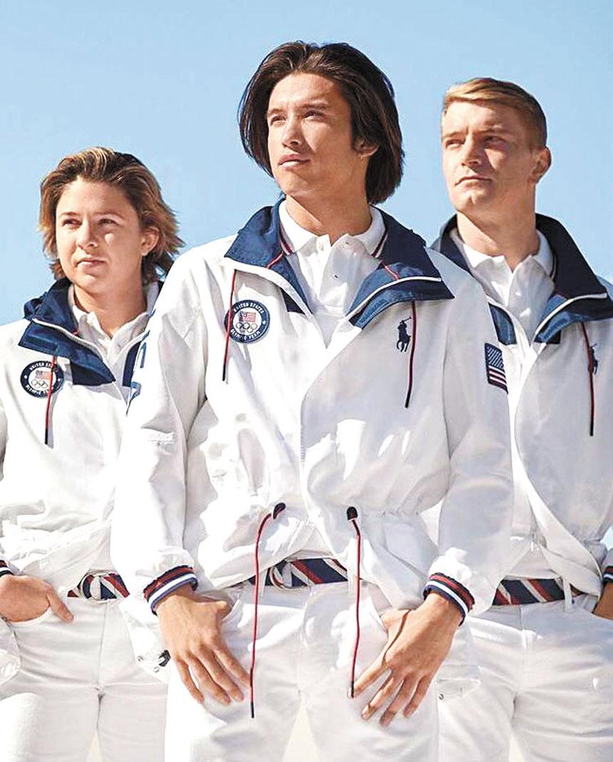 被吐槽的「遊艇服」。網上圖片