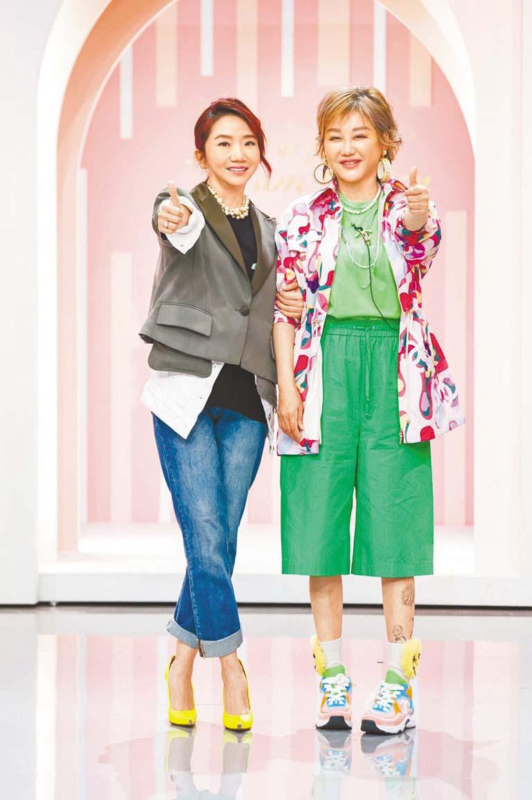 陶晶瑩(左)與藍心湄
