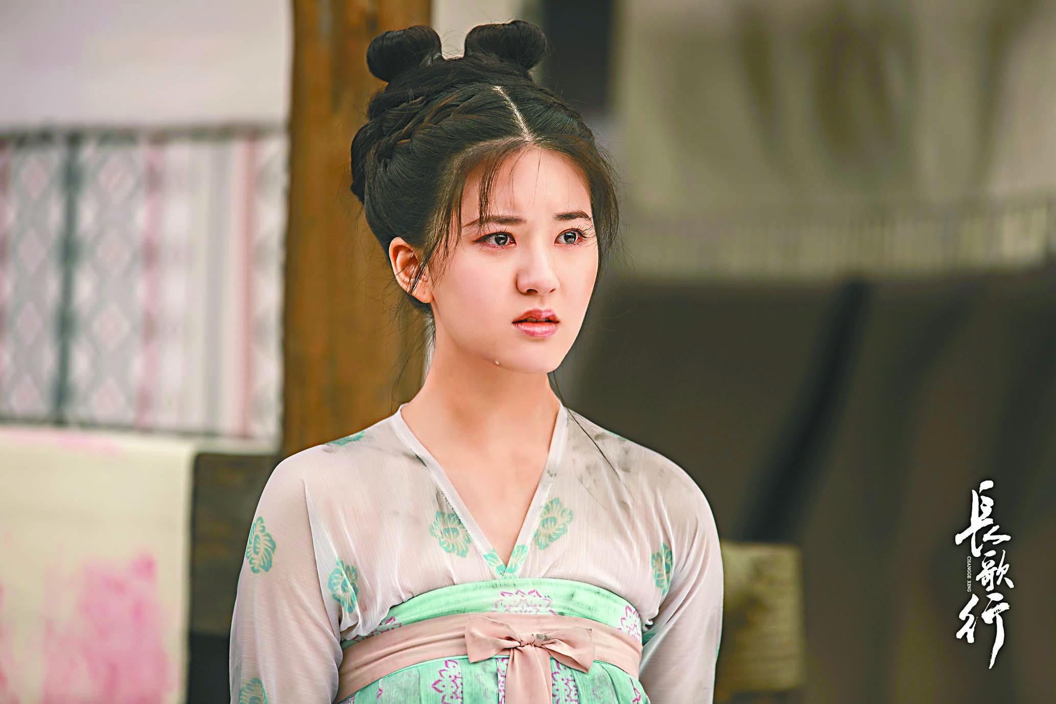 ■在《長歌行》中,趙露思的哭戲最多。 網上圖片
