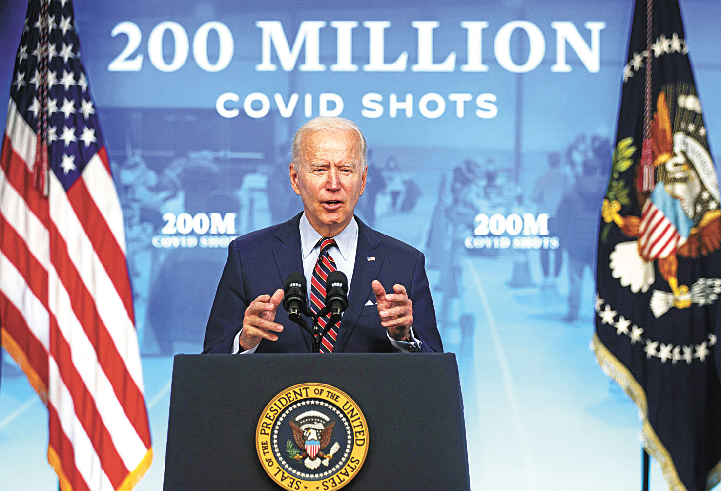 美國總統拜登21日稱,美國22日將達到接種兩億劑的目標。他還呼籲讓民眾帶薪請假接種新冠疫苗。法新社