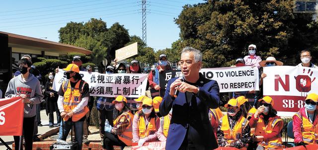 集會遊行發起人馮嘉輝表示勢必盡全力保障市民。記者李兆庭攝