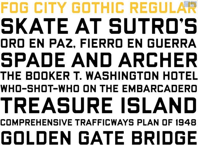設計師創造的三藩市字體。fogcitygothic