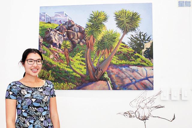 畫家劉漢澄「城市的大自然」個人油畫展正在展出。記者張曼琳攝