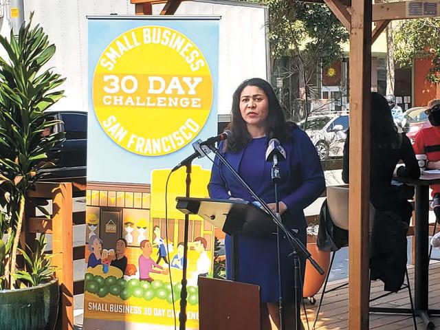 挑戰獲市長布里德大力支持。記者李兆庭攝