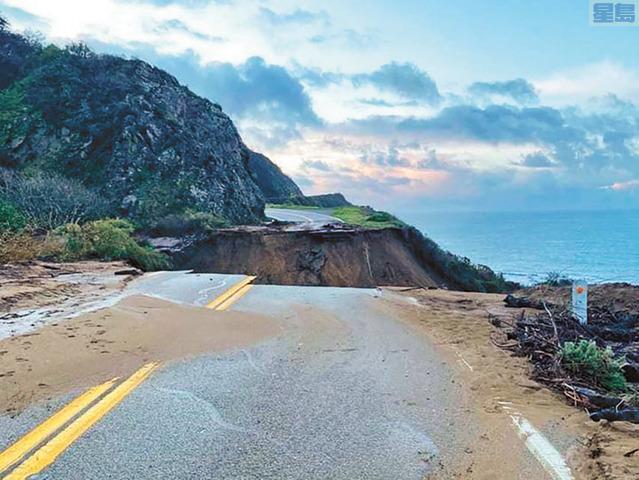 1號公路Big Sur路段搶修工作提前完工,將於周五通車。美聯社資料圖片