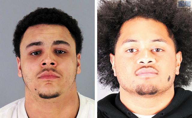 兩名搶劫嫌犯Richard Farries(左)和Okusitino Tau落網。聖馬刁市警察局