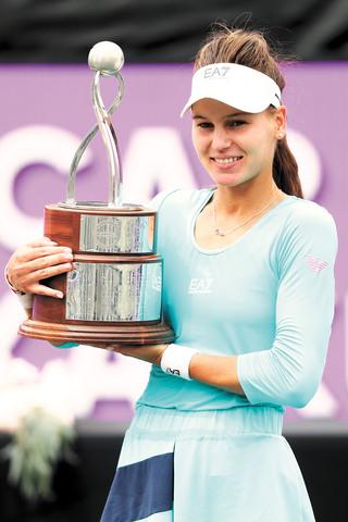 庫德梅托娃奪得職業生涯WTA巡迴賽首個女子單打冠軍。法新社