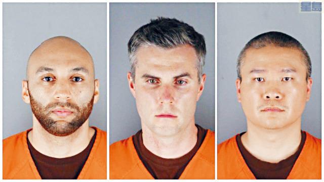 ■餘下3名被告庫恩(左)、利恩(中)、及陶投(右)去年案發後已被革職,目前面對協助、教唆二級謀殺及二級殺人的罪名。    資料圖片