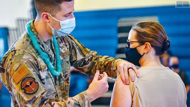 ■國防部數據顯示,有近40%海軍陸戰隊成員拒絕注射新冠疫苗。美聯社