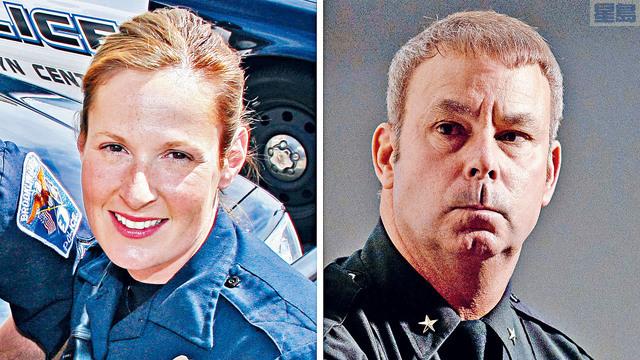 明尼蘇達州警員射殺非裔男子,繼而引發民間示威後,涉事警察波特(左)和當地警察局長嘉農分別辭職。法新社