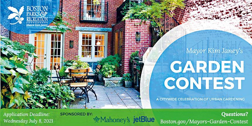 2021年波士頓市長花園大賽宣傳海報。波士頓市政府供圖
