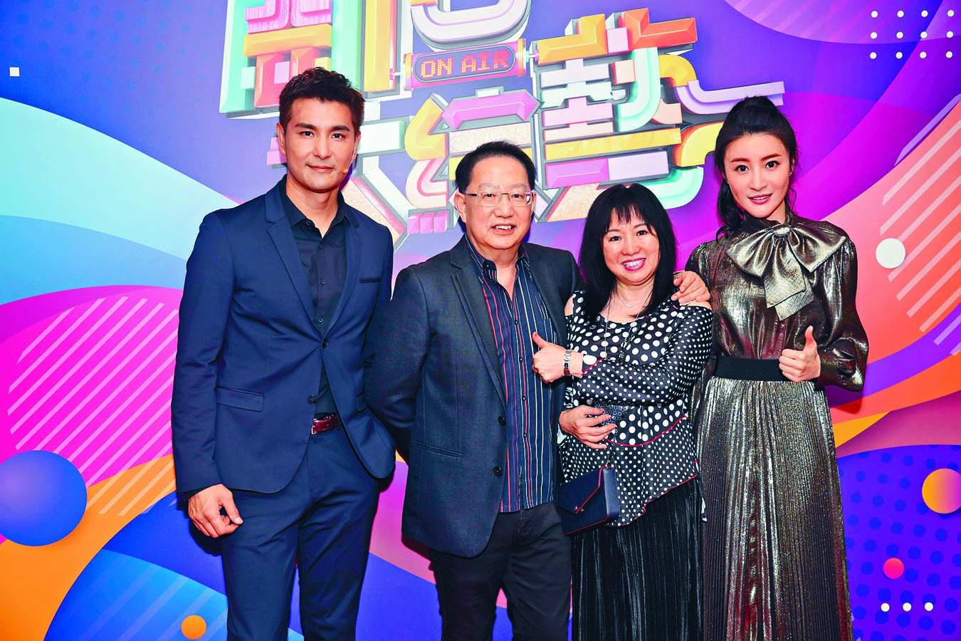 ■劉家豪與梅小青偕陳展鵬和林夏薇合照。