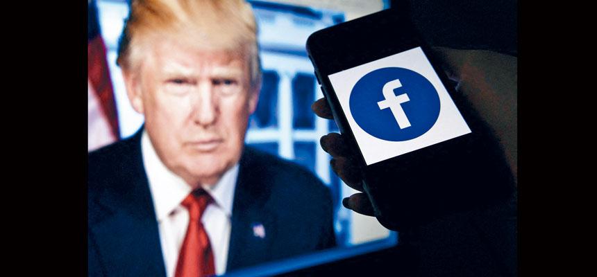 臉書監管委員會裁定關閉前總統特朗普賬戶的做法合理。法新社
