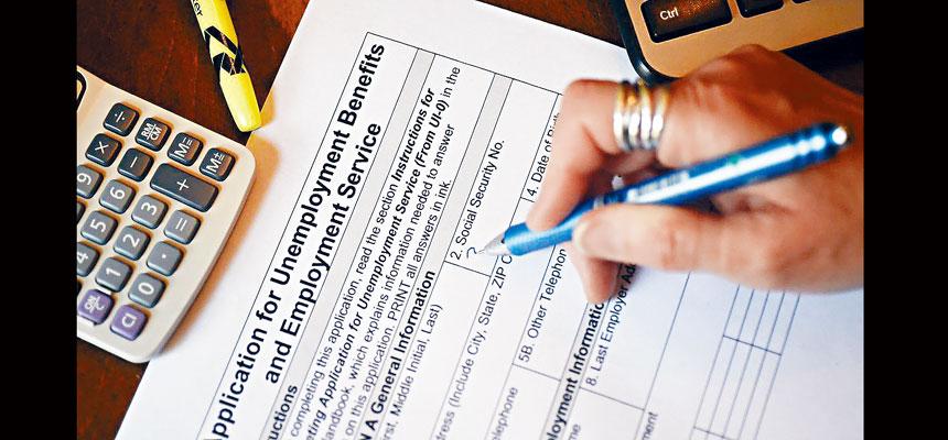拜登政府1.9萬億元紓困案中每周提供300元失業津貼的做法,被指養懶人,有企業組織指出,不少人領取的失業福利比他們上班領取的工資還要高,因此失去工作興趣。資料圖片