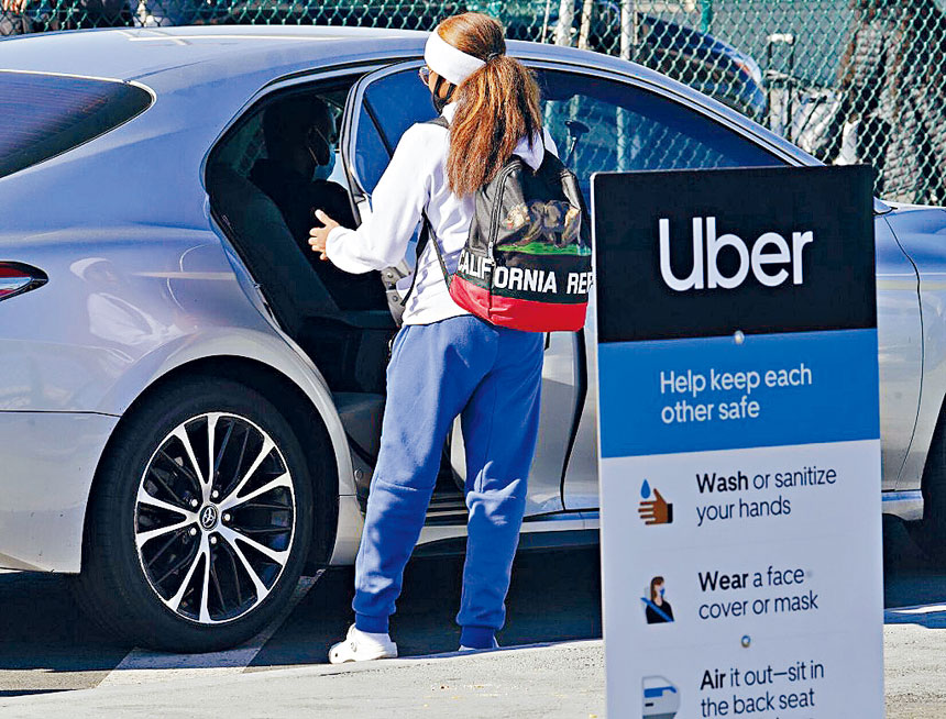 白宮宣布與網約車公司Uber和Lyft合作,提供免費搭車往返接種疫苗的服務,以期能在拜登提出的7月4日國慶日之前,達到成年人7成接種率的目標。    美聯社