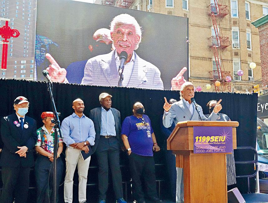 夏普敦呼籲少數族裔攜手抗擊白人至上種族歧視。