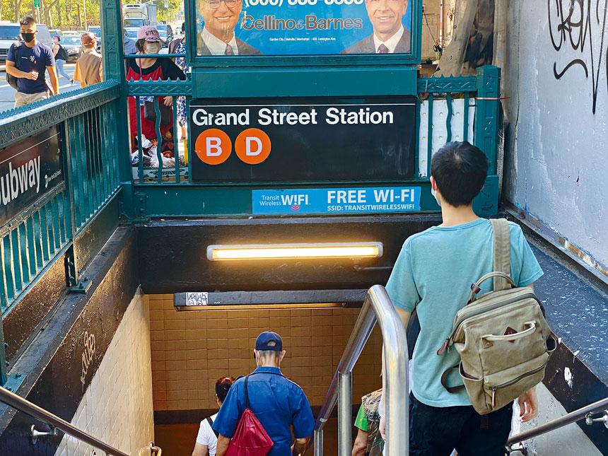 圖為事發地鐵站。