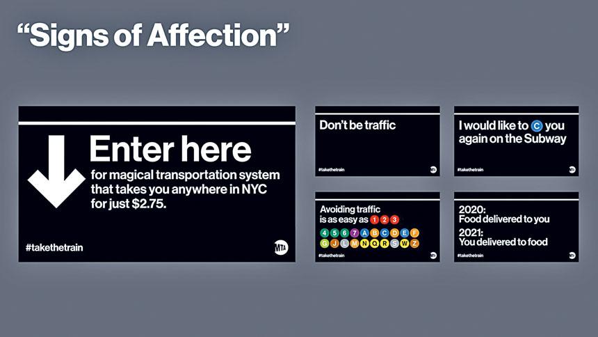 MTA地鐵為週一開始恢復的24小時服務製作了有趣的標語。