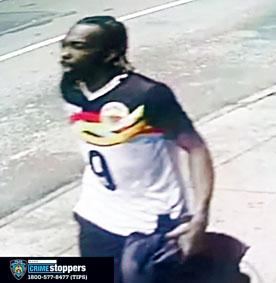 警方公佈時報廣場三人受傷槍擊案嫌犯照片。