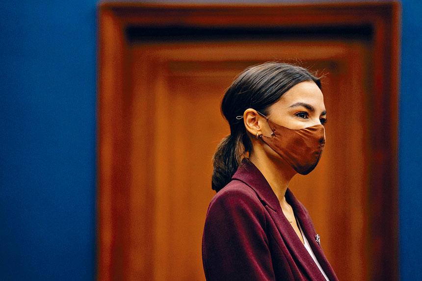 奧卡西奧哥德斯表示,自己將會繼續戴口罩。Anna Moneymaker/紐約時報