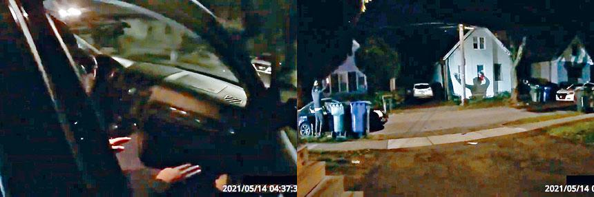 警方公布涉事隨身攝影機片段。視頻截圖