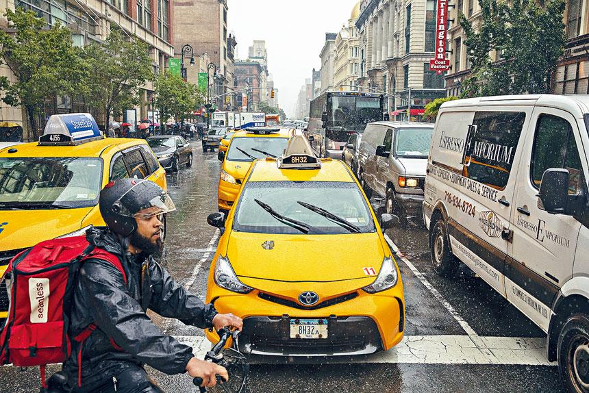TLC希望,電動車為的士行業帶來新氣象。Benjamin Norman/紐約時報