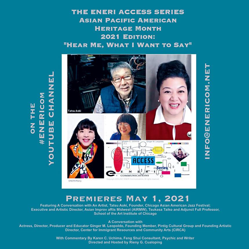 慶祝亞太裔傳統月,多名藝術、教育工作者在YouTube有多集的播放。Eneri Communications提供