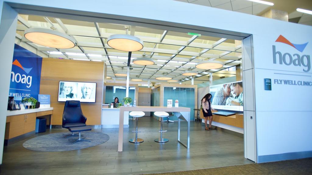 橙縣約翰韋恩機場成立機場診所,旅客可在機場接種新冠疫苗。JWA官網