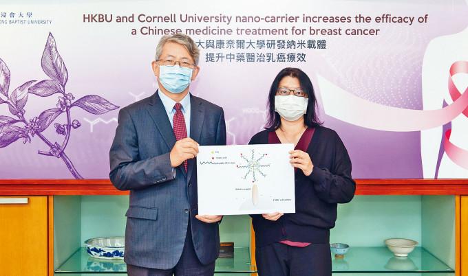 浸大聯同美國康奈爾大學研新標靶療法,利用「納米載體」運送中藥助滅癌細。