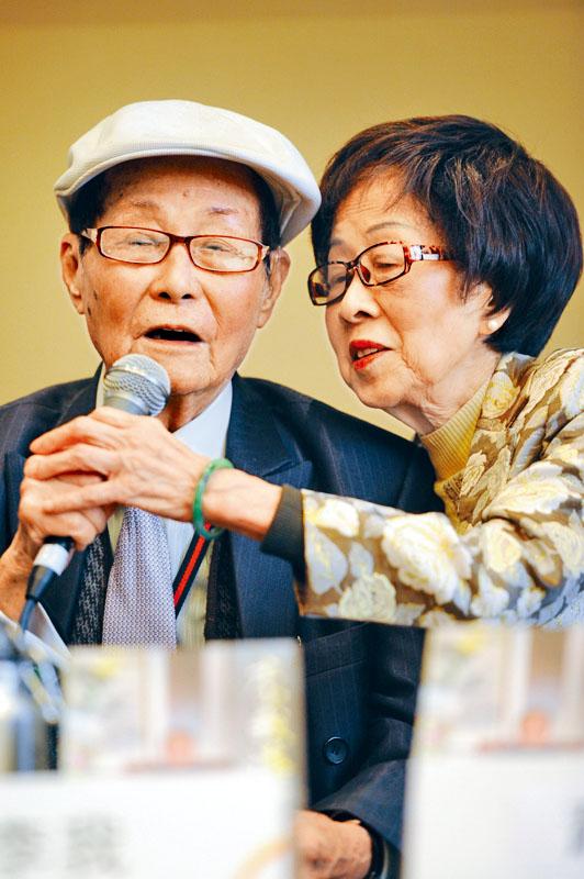 李我與蕭湘相愛逾70載,前年9月慶祝白金婚紀念。