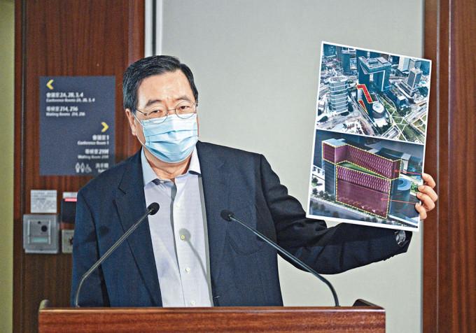 梁君彥指,現時立法會大樓辦公地方嚴重不足以應付需要,行管會同意政府提出的擴建方案。