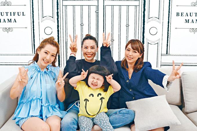 李璨琛太太帶埋囡囡元元上節目《靚媽圍爐》做嘉賓。