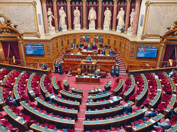 法國參議院表決通過挺台議案。