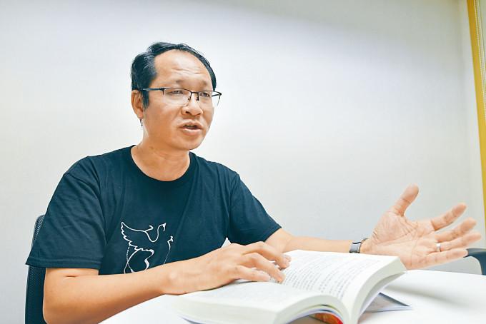 蔡耀昌指,支聯會五大綱領是對中國的展望,同時是他個人願景。
