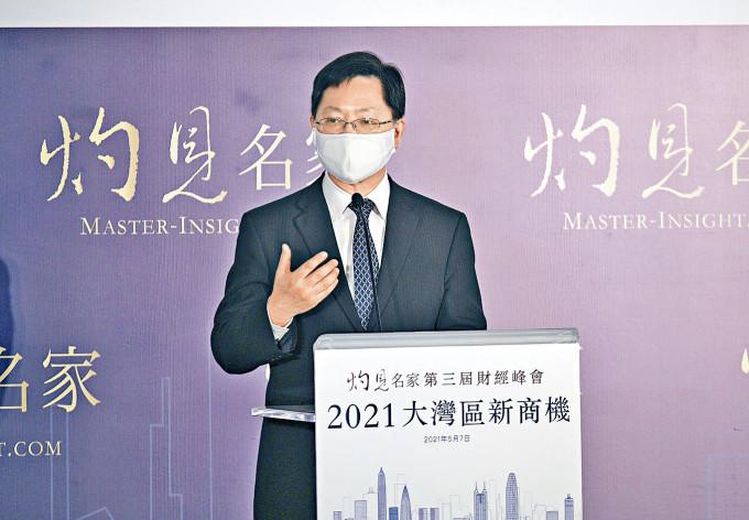 薛永恒表示,會將港深創新科技園,打造成世界級知識樞紐及創科中心。