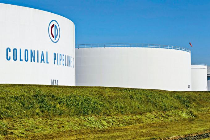 殖民管道公司在新澤西州的儲油缸。