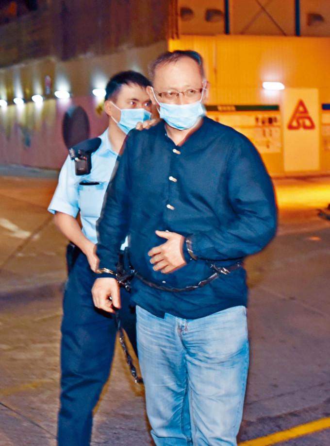 網台主持「傑斯」被加控一項「串謀作出煽動意圖作為罪」及五項洗黑錢罪。