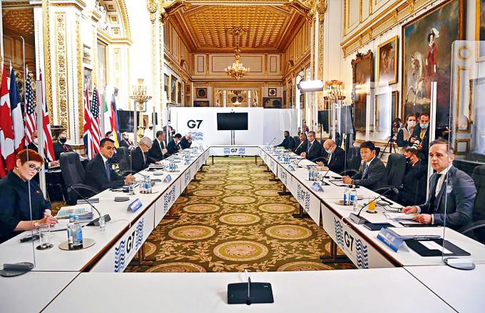 七大工業國集團(G7)外長會議日前被指就涉疆、涉港等問題討論。