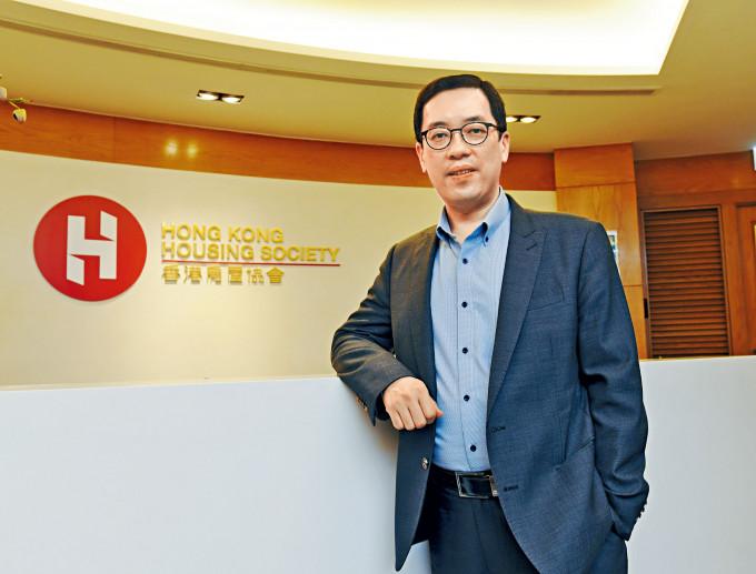 房協總監(物業發展及市場事務)楊嘉康表示,因應小家庭的需求,故將兩房單位比例增至八成。