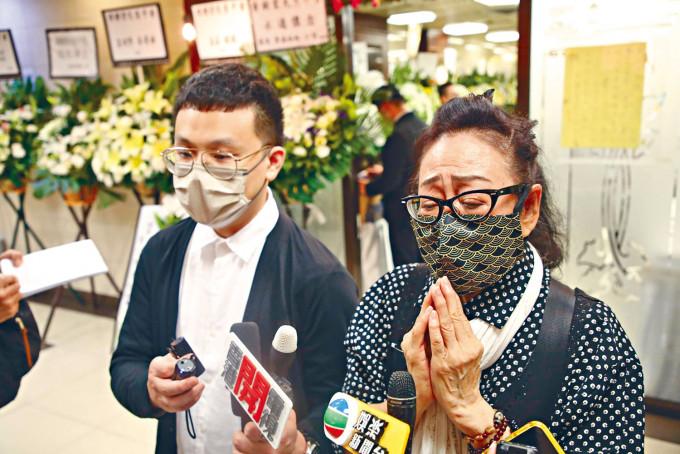 黃樹棠胞妹黃文慧、兒子黃榮璋表示非常不捨。
