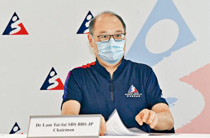 林大輝表示,港府購入轉播權有助促進體壇發展。