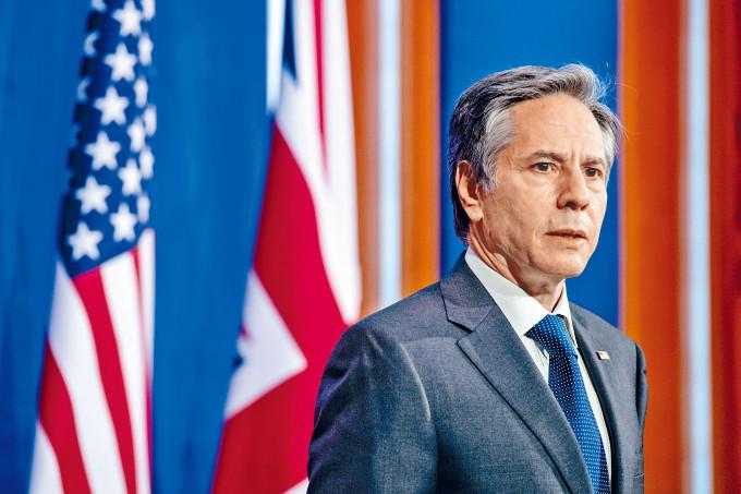 《環球時報》點名布林肯不在乎香港的穩定與繁榮是不是遭到破壞。