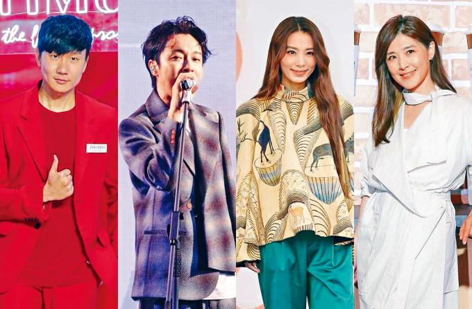 左起:林俊傑、吳青峰、田馥甄及蘇慧倫都是歌王歌后大熱門。